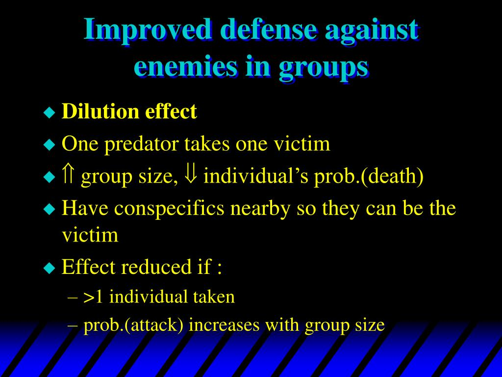 Improved defense against enemies in groups