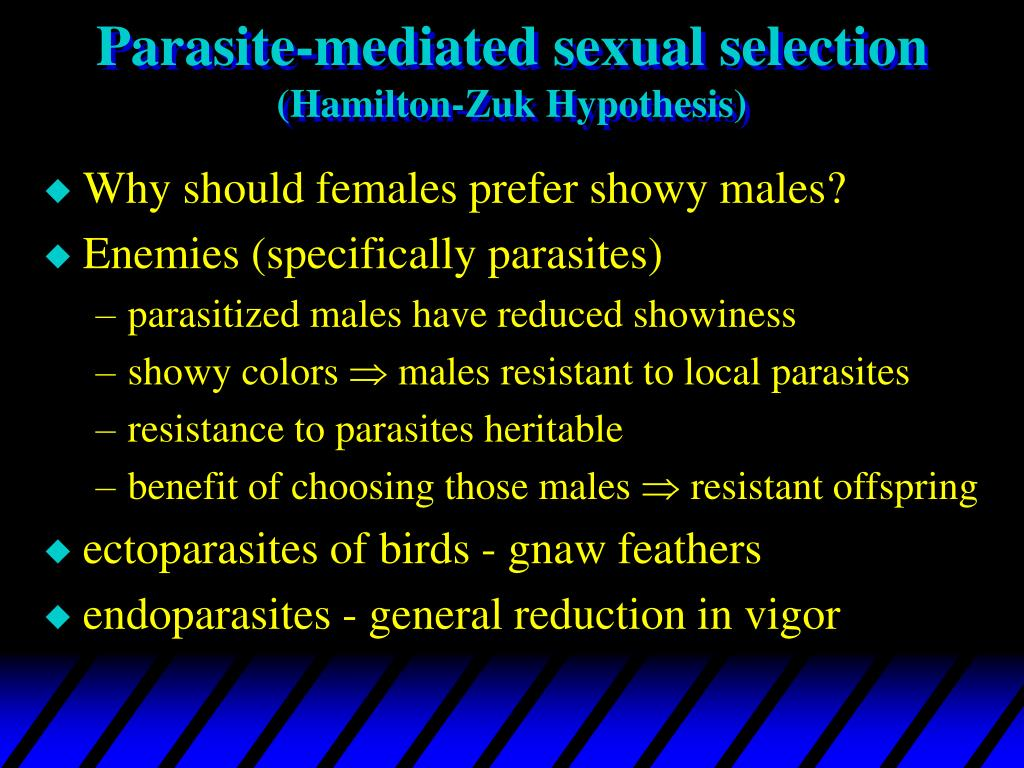 Parasite-mediated sexual selection