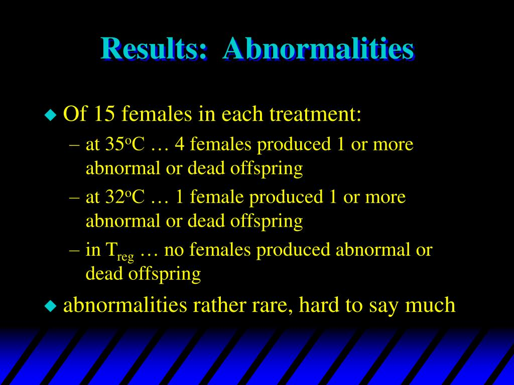 Results:  Abnormalities