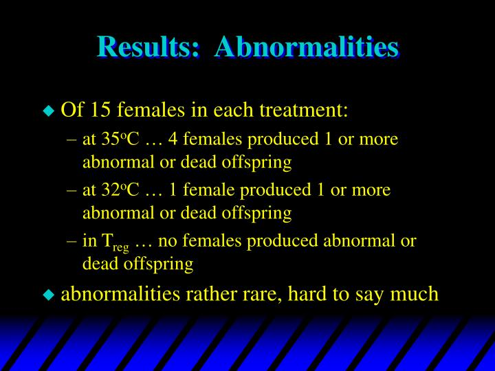 Results abnormalities