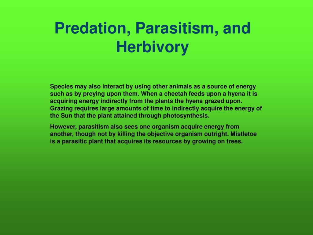 Predation, Parasitism, and Herbivory
