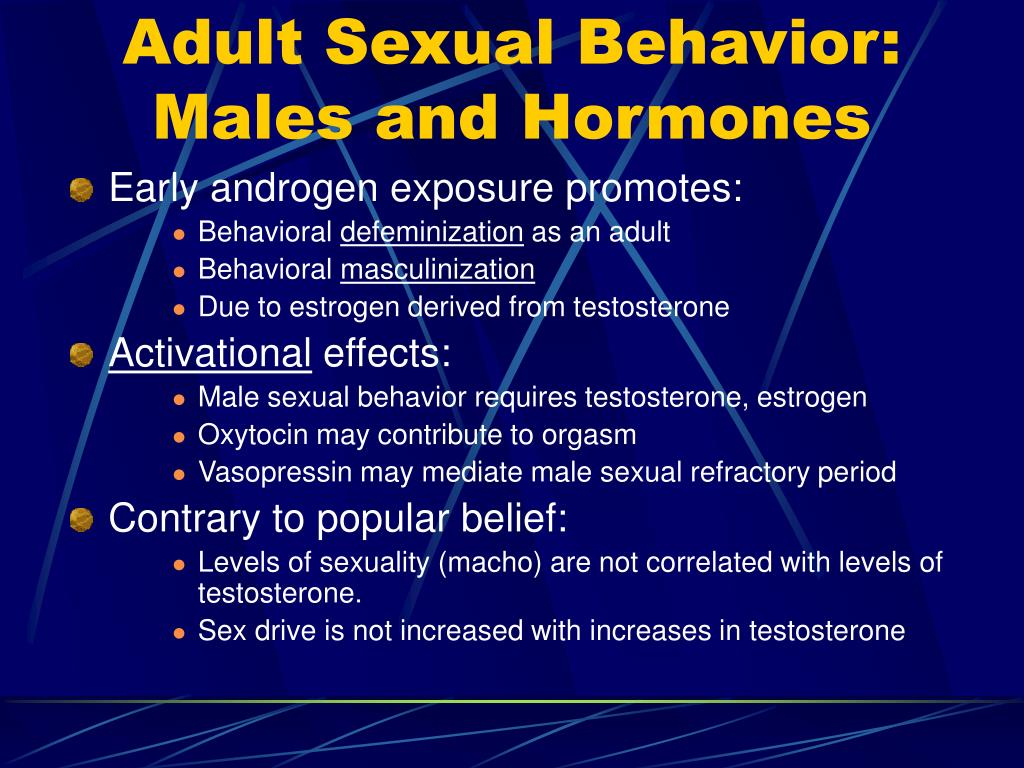 Adult Sexual Behavior: Males and Hormones