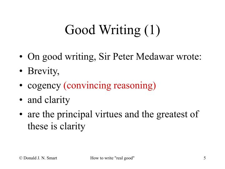 Good Writing (1)