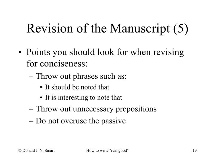 Revision of the Manuscript (5)