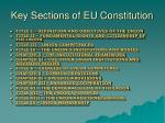 key sections of eu constitution