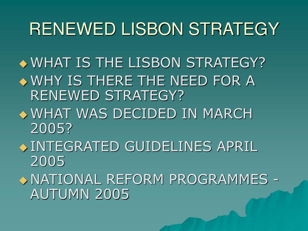 RENEWED LISBON STRATEGY