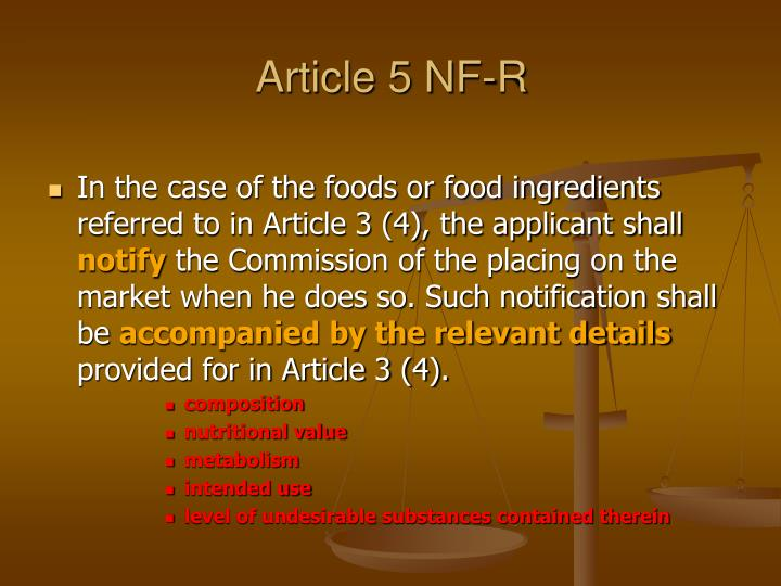 Article 5 NF-R
