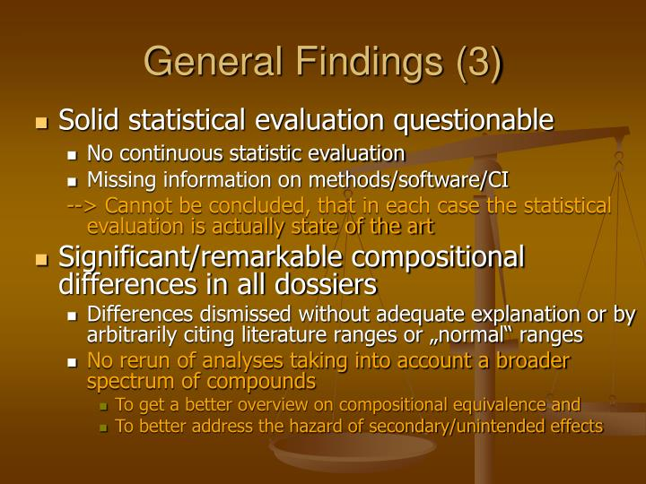 General Findings (3)