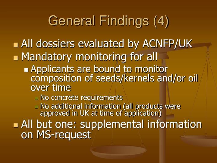 General Findings (4)