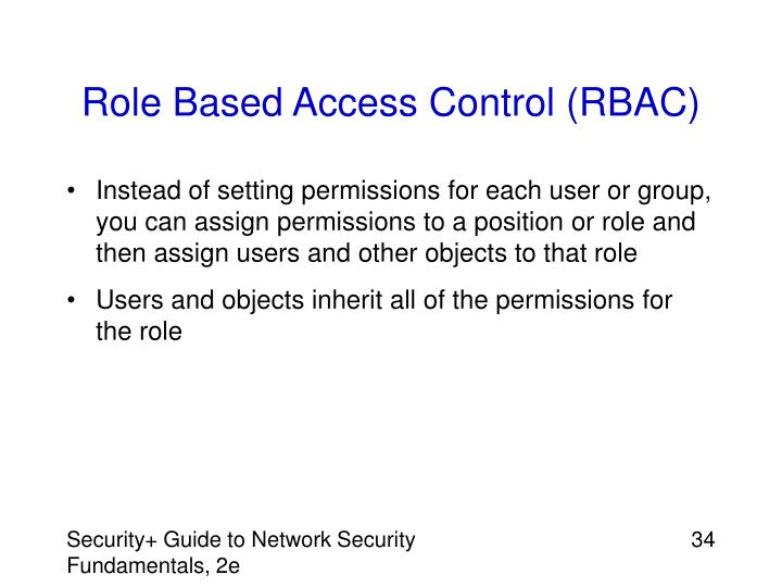 Role Based Access Control (RBAC)