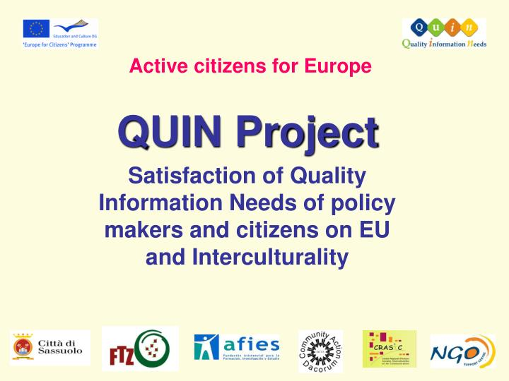 Active citizens for Europe