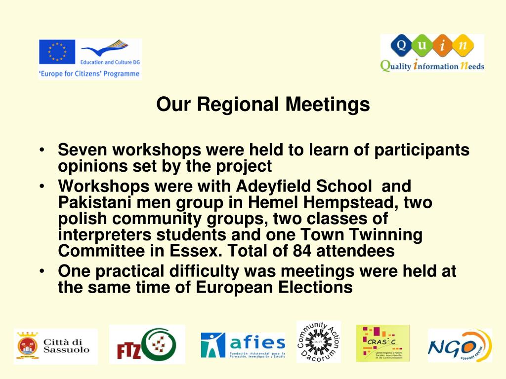Our Regional Meetings