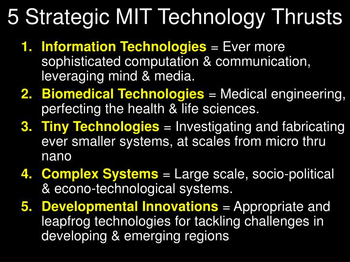 5 Strategic MIT Technology Thrusts
