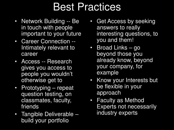 Network Building -- Be in touch with people important to your future