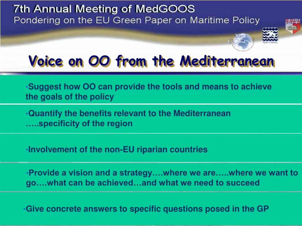 Voice on OO from the Mediterranean