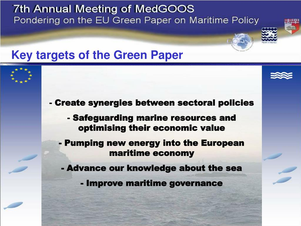 Key targets of the Green Paper