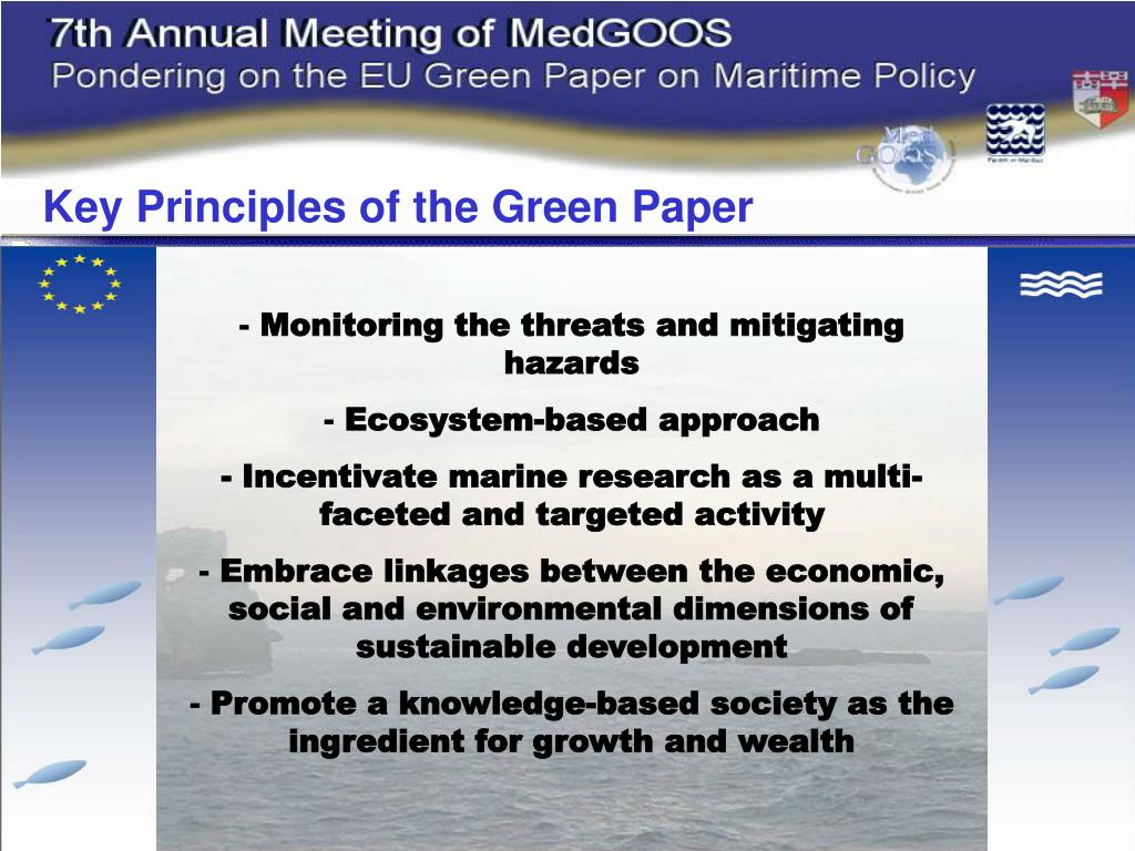 Key Principles of the Green Paper