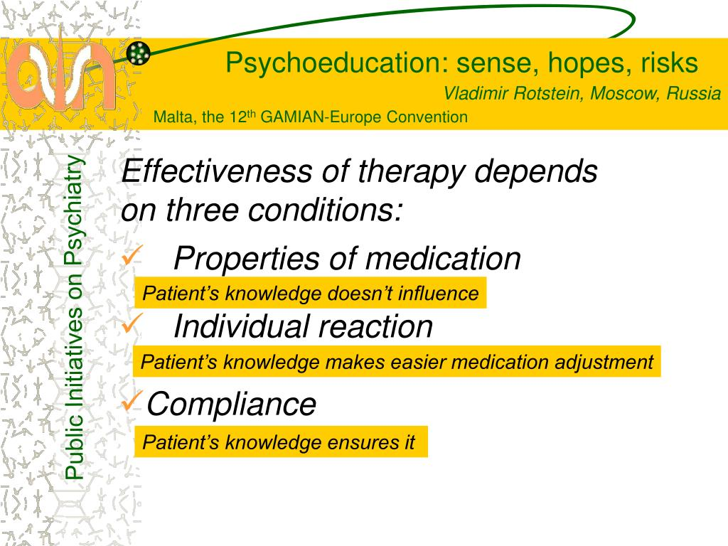 Effectiveness of therapy depends