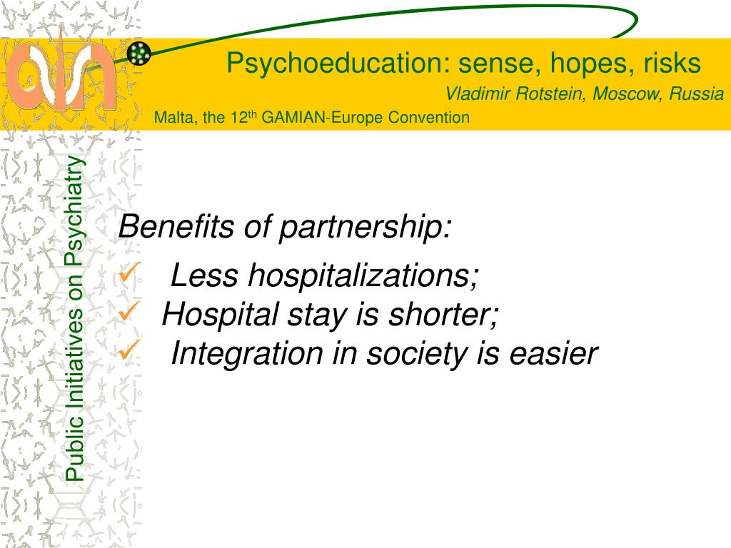 Benefits of partnership: