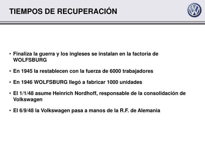 TIEMPOS DE RECUPERACIÓN