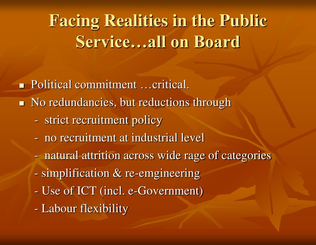 Facing Realities in the Public Service…all on Board