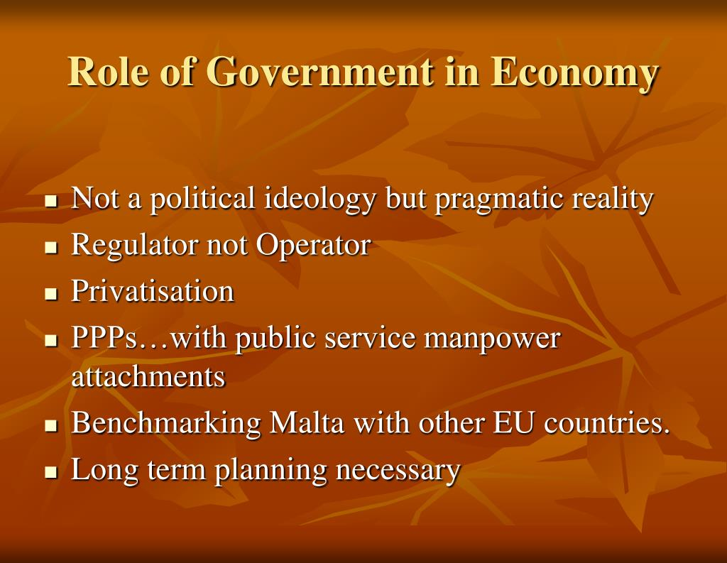 Role of Government in Economy