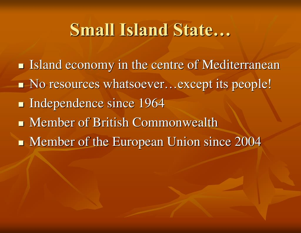 Small Island State…