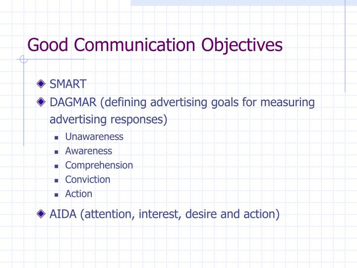 Good Communication Objectives