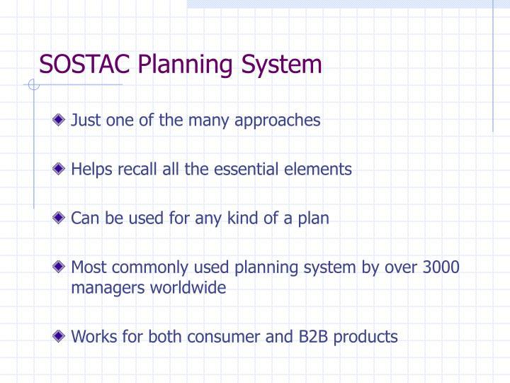 SOSTAC Planning System