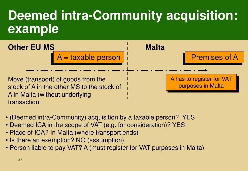 Deemed intra-Community acquisition: example