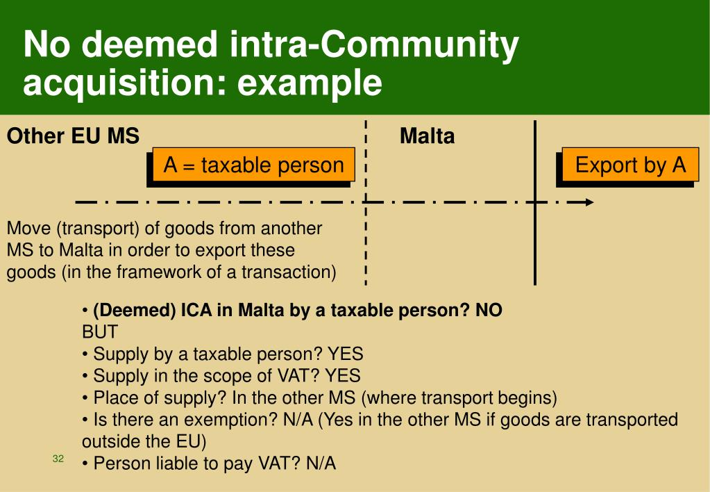 No deemed intra-Community acquisition: example