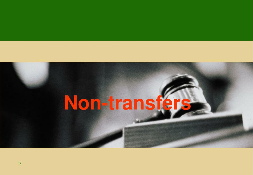 Non-transfers