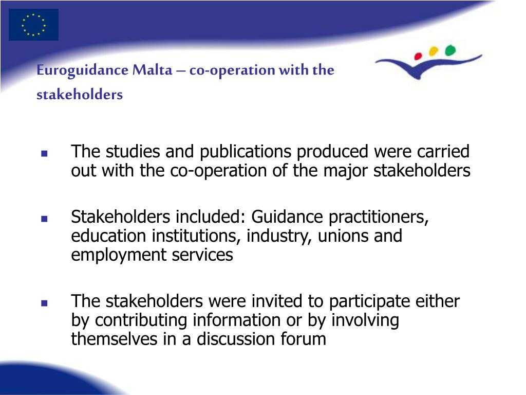 Euroguidance Malta – co-operation with the stakeholders