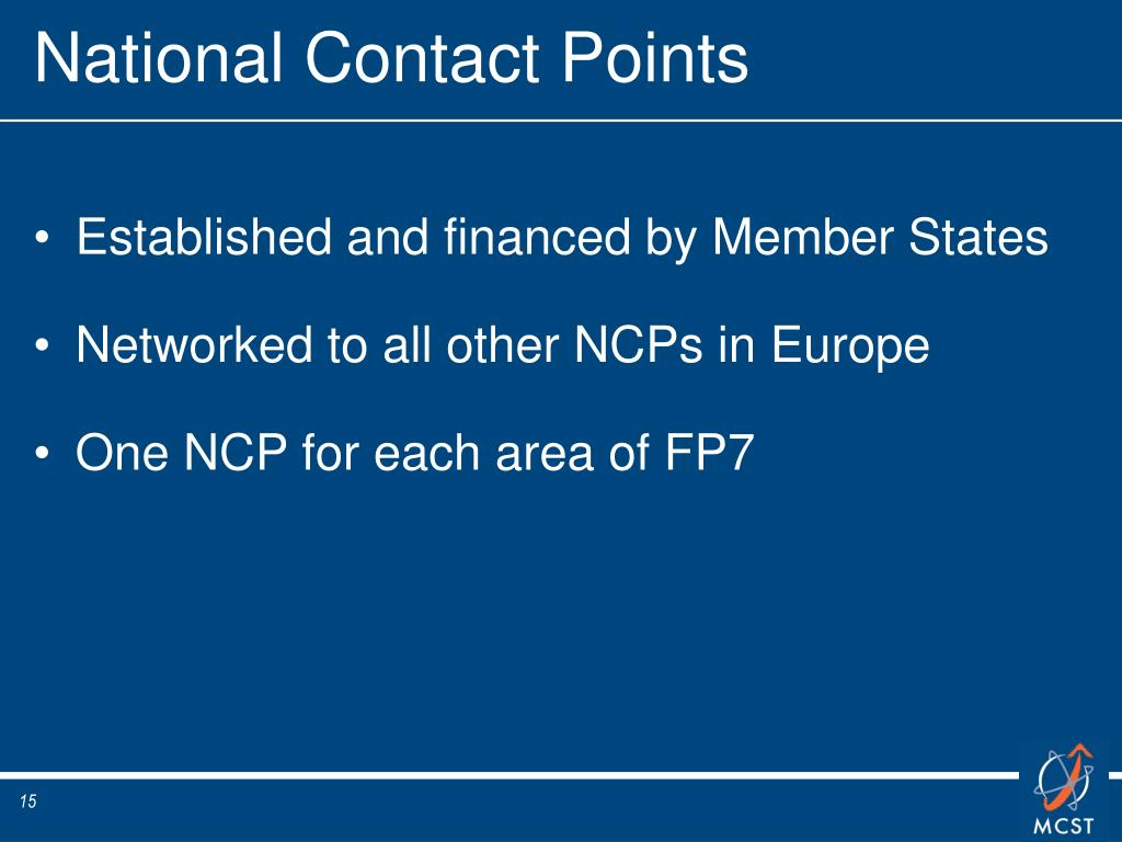 National Contact Points