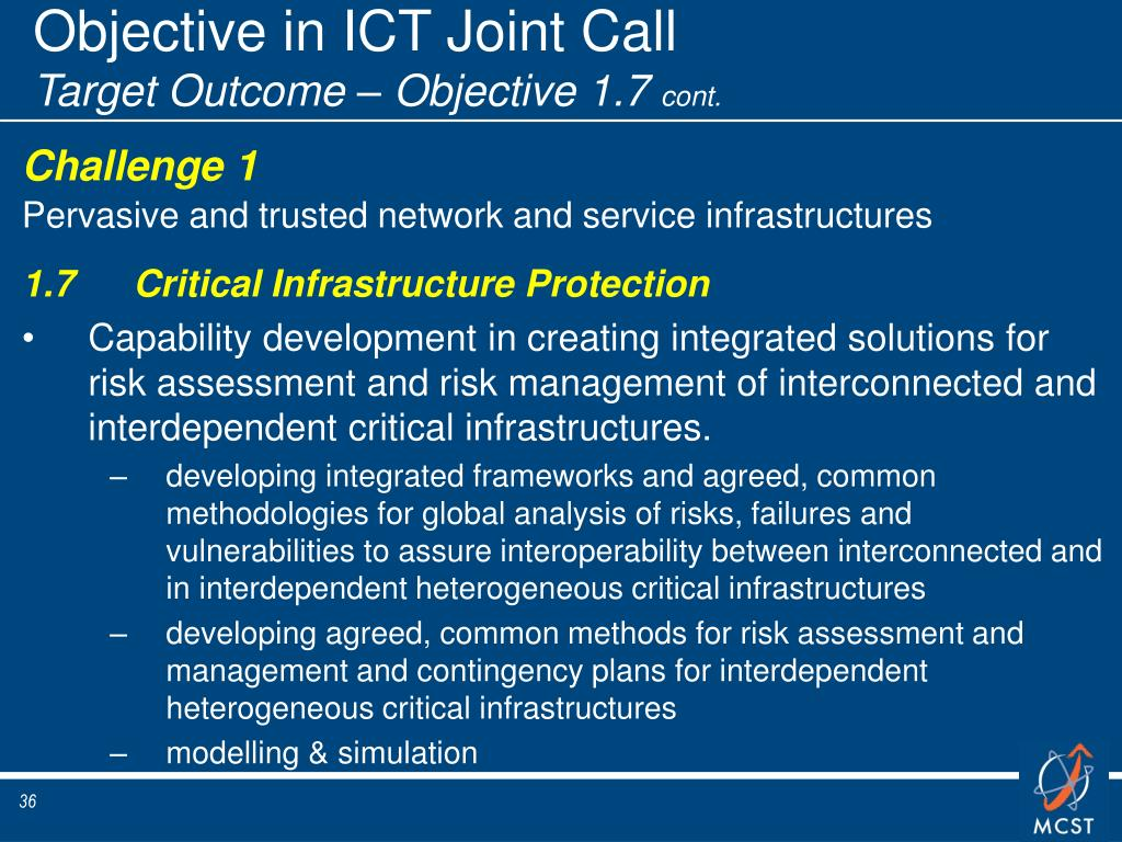 Objective in ICT Joint Call