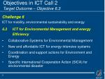 objectives in ict call 2 target outcome objective 6 3