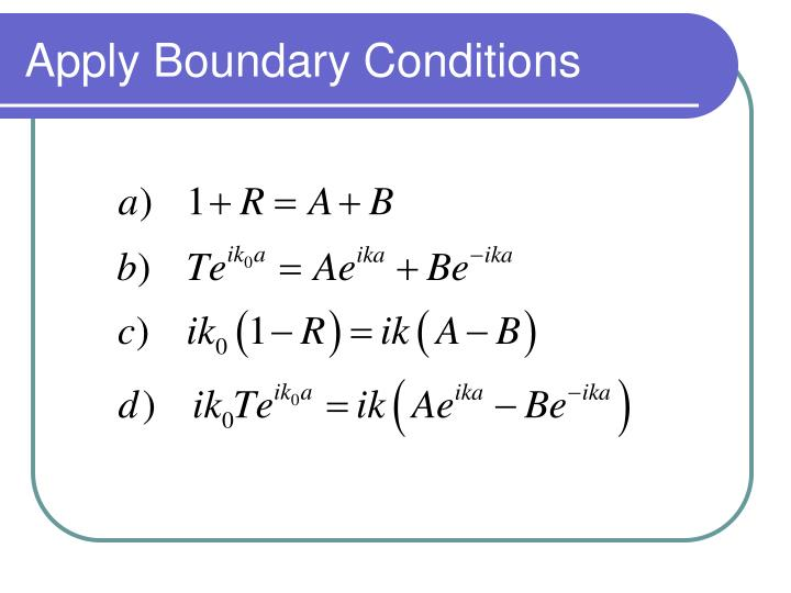 Apply Boundary Conditions