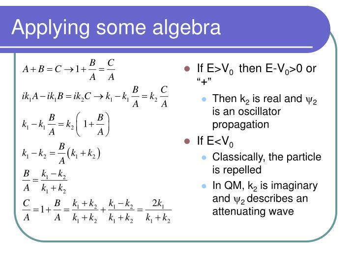 Applying some algebra