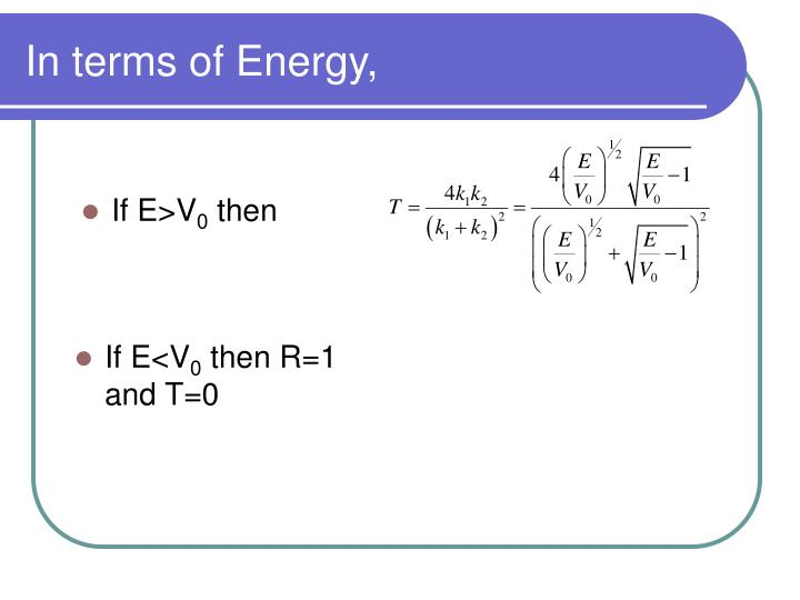 In terms of Energy,