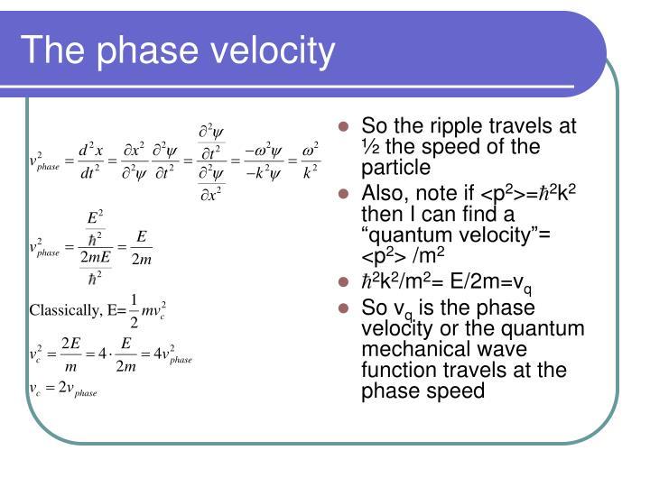 The phase velocity