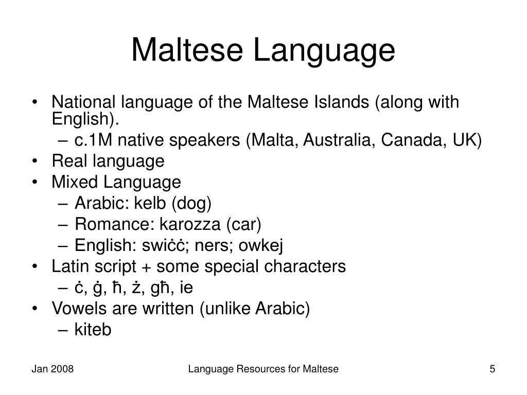 Maltese Language