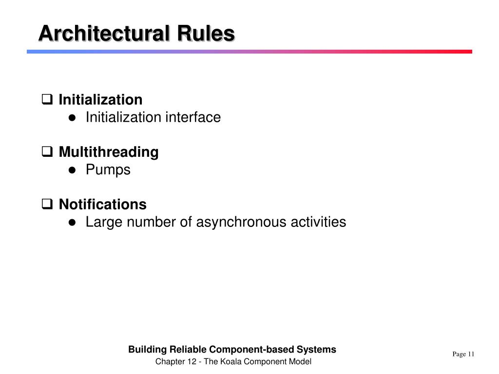 Architectural Rules