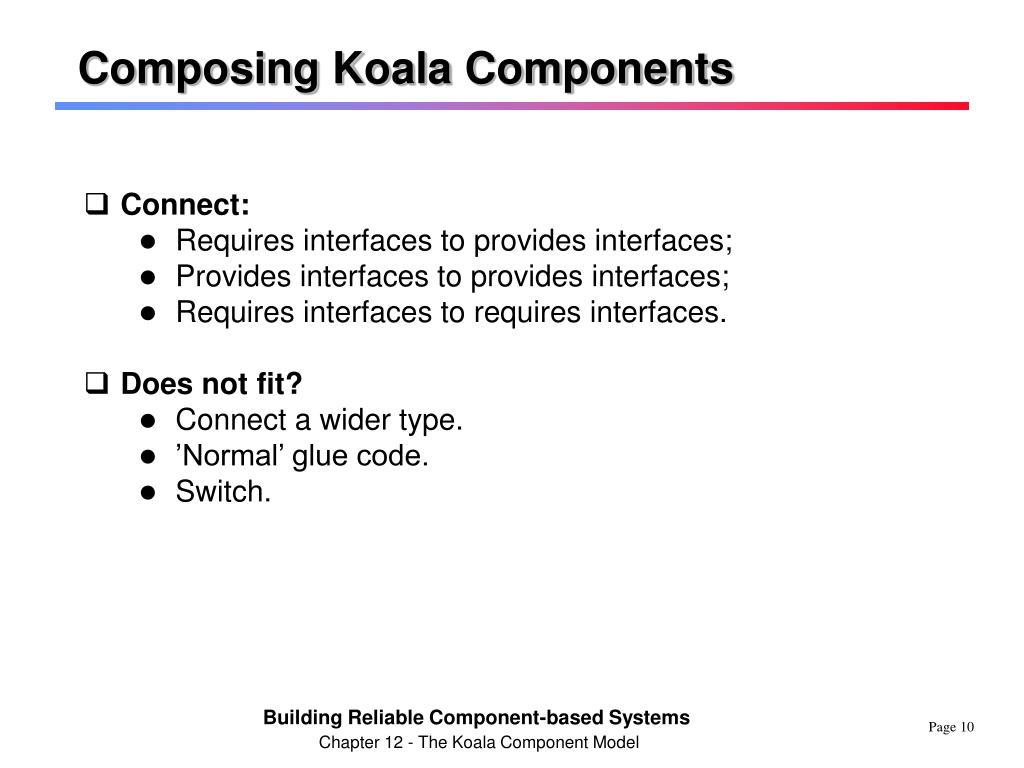 Composing Koala Components