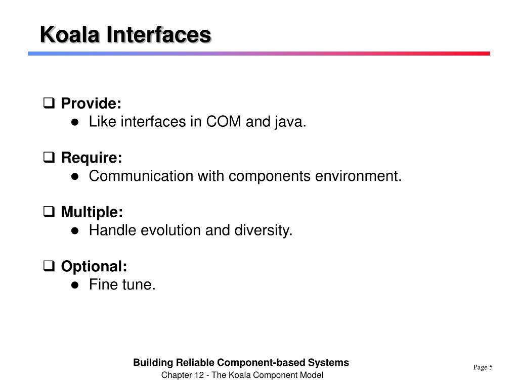 Koala Interfaces