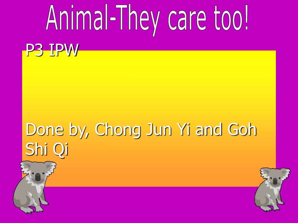 Animal-They care too!