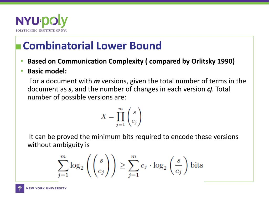 Combinatorial Lower Bound
