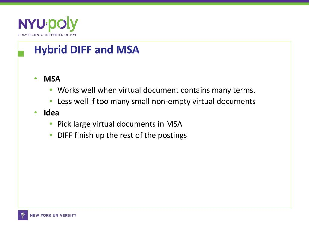 Hybrid DIFF and MSA