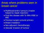 areas where problems seen in breast cancer