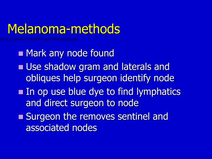 Melanoma-methods