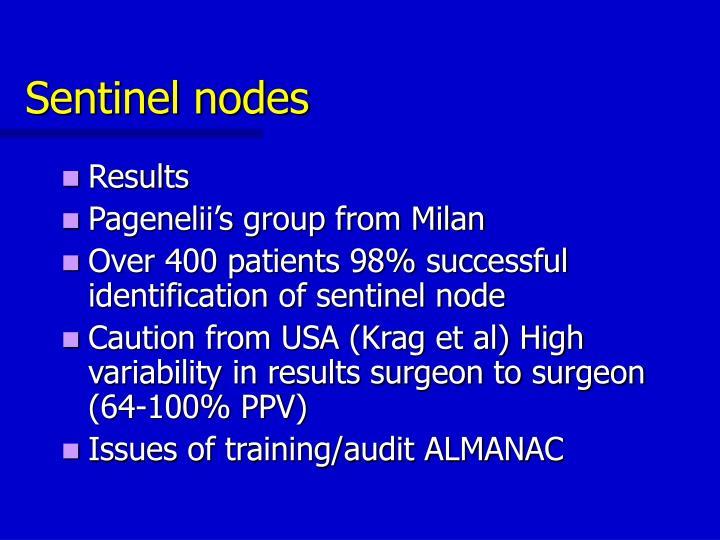 Sentinel nodes